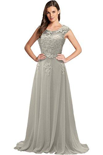 Spitze Festkleider Tuell Rundkragen A Lang Modisch Schleppe Bride Grau Ballkleider Gorgeous Chiffon Linie Abendkleider Itq0P8cxw