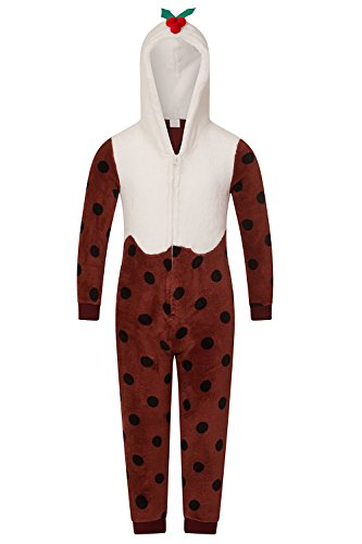 di Christmas donna in da intero Adults morbido pile Natale Loungeable Pudding pigiama Hwn6qZExU