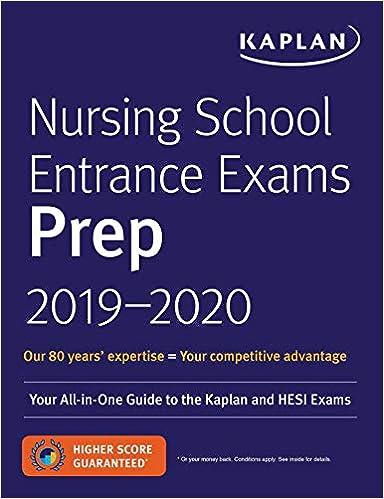 Nursing School Entrance Exams Prep 2019-2020: Your All-in