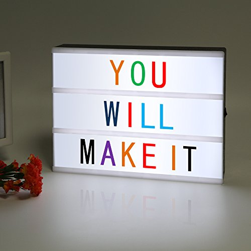 LitEnergy Light Up Your Life A4 Size Cinematic Light Box with Letters and LED Light (Colour Version)