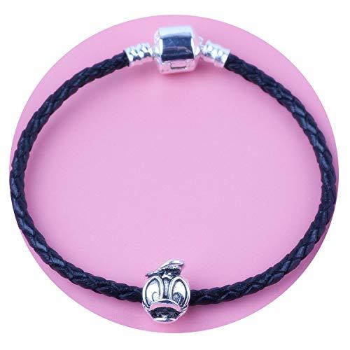 Tea language Braided Leather Bracelet for Men Women Magnetic Clasps Charm Bracelets -
