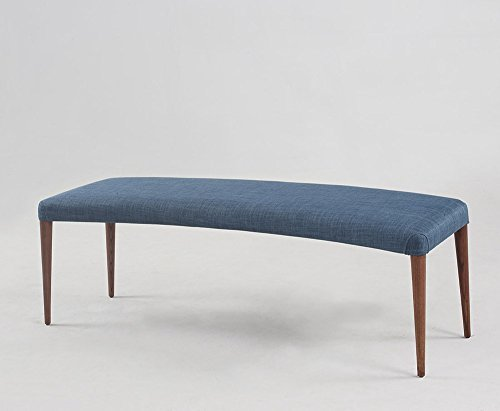 Ash wood curved bench
