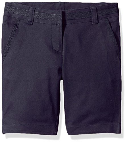 - Nautica Big Girls' Uniform Bermuda Short, Navy, 14