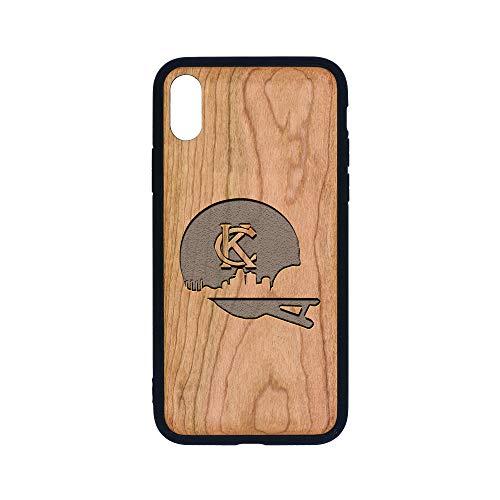 KC Skyline Helmet - iPhone Xs CASE - Cherry Premium Slim & Lightweight Traveler Wooden Protective Phone CASE - Unique, Stylish & ECO-Friendly - Designed for iPhone Xs