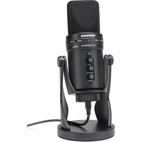 Samson G-Track Pro Professional USB Condenser Microphone with Audio Interface by Samson Technologies