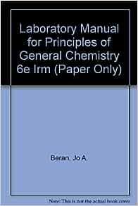 Laboratory Manual For General Chemistry Beran