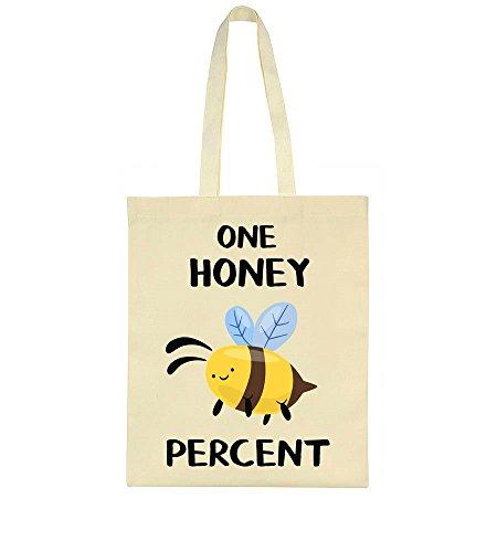One Honey Percent Super Cute Bee Tote Bag