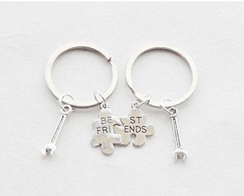 Mejores amigos llavero set de 2 llave llavero 2 amistad ...