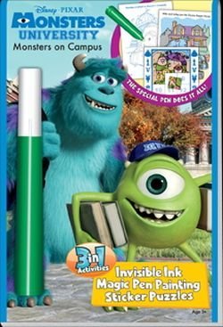 Monsters University Monsters on Campus 3 in 1 Invisible Ink Magic Pen Activity Book -
