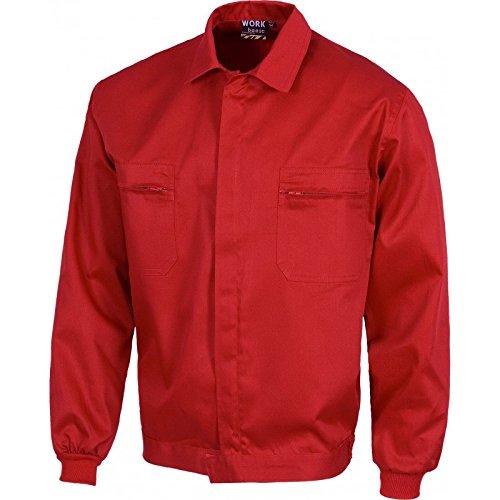 WorkTeam - Chaqueta - para hombre rojo 62 cm: Amazon.es ...