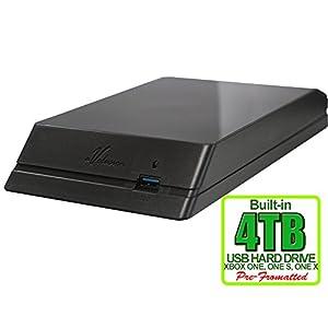 Avolusion HDDGear 4TB (4000GB) USB 3.0 External XBOX Gaming Hard Drive (XBOX Pre-Formatted) - XBOX ONE, XBOX ONE S, XBOX ONE X - 2 Year Warranty