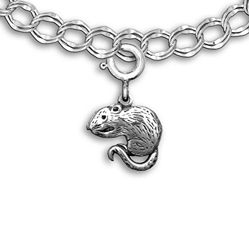 Pet Rats In Costumes (Sterling Silver Rat Charm for charm bracelet by The Magic Zoo)
