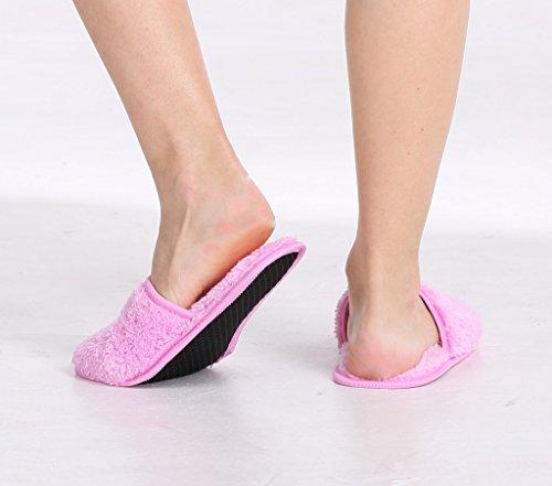 Pantofole Da Donna Pembrook Con Memory Foam - Velluto Di Corallo Sfocato - Pantofola Per Adulti, Donne, Ragazze Rosa