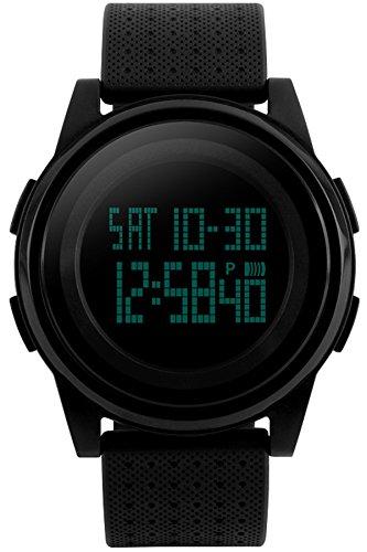 Men Women Fashion Minimalist Sports Casual Waterproof Chronograph Black Electronic Watches