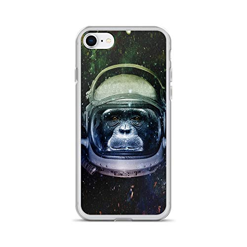 iPhone 7/8 Case Anti-Scratch Creature Animal Transparent Cases Cover Mission to Mars Animals Fauna Crystal Clear