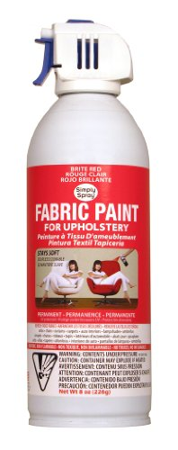 Simply Spray Upholstery Fabric Spray Paint 8 Ounces - Brite Red