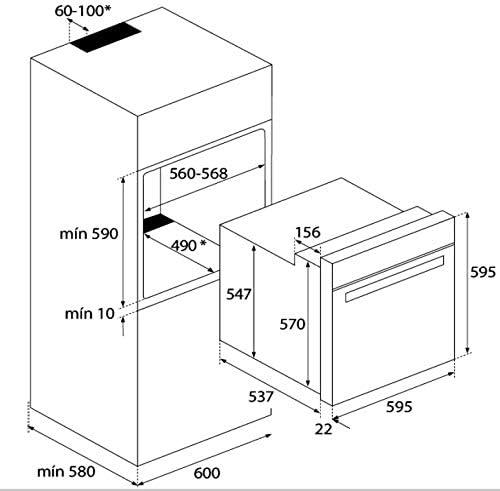 Edelstahl 60cm 6 Funktionen TEKA HCB 6415 Einbau-Backofen Energieklasse A