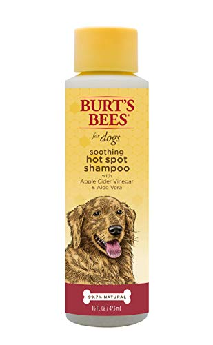 - Burt's Bees All Natural Hot Spot Shampoo for Dogs | Relieves & Soothes Dog Hot Spots | Made with Apple Cider Vinegar & Aloe Vera, 16 Ounces