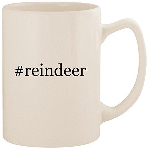#reindeer - White Hashtag 14oz Ceramic Statesman Coffee Mug -