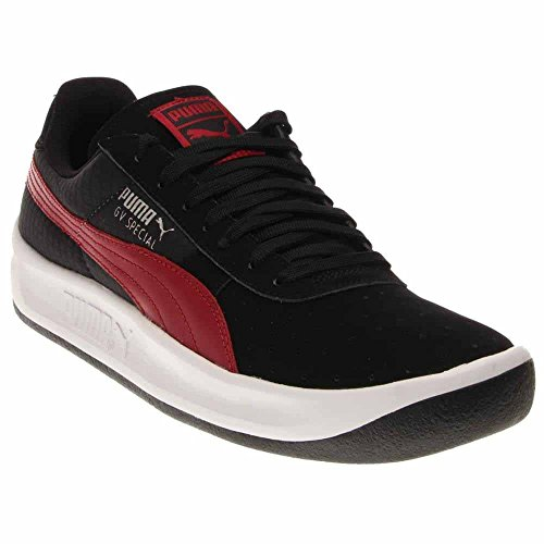 PUMA Herren GV Special Fashion Sneaker Schwarz / Rio Rot / Puma Silber