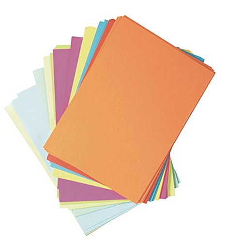 1000 Blatt farbiges Druckerpapier / buntes Kopierpapier / 10 verschiedene Farben