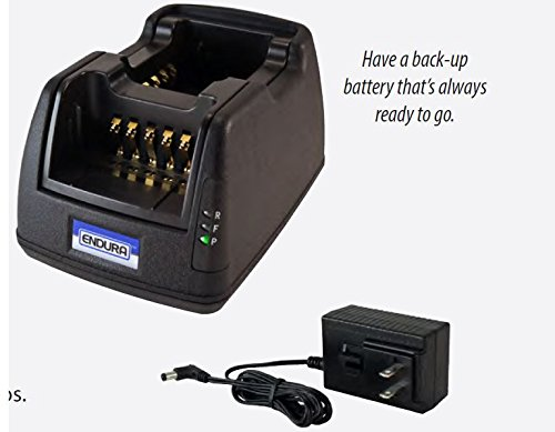 Endura Multi-Chemistry Li-Ion / Li-Po / NIMH / NiCD TWC2M-TWP-HA1-D, 2-Bay Radio Battery Charger, Works with HARRIS: P5400 Series / P5300 / P5350 / P5370 / P5450 / P5470 / P5500 / P5550 / P5570 / P7300 / P7350 / P7370 / XG-25P / XG-75P (Series P5500)