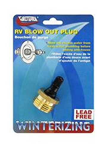 (RV Trailer VALTERRA LLC Attaches To Fresh Water Inlet Water System Blow Out Plug)