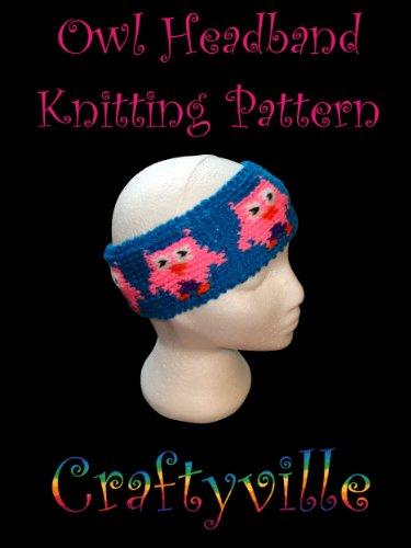 Owl headband knitting pattern