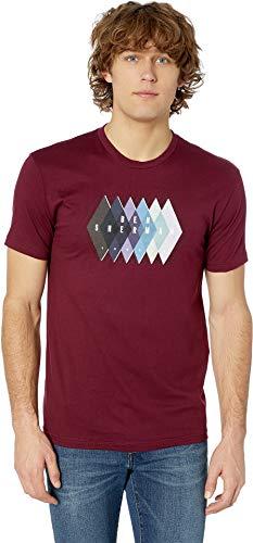 Ben Sherman Men's Argyle Logo Graphic Tee Maroon X-Large