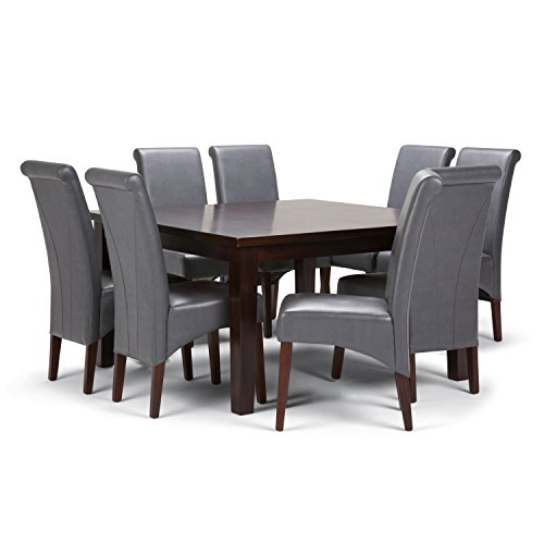 Simpli Home Avalon 9 Piece Dining Set, Stone Grey Review