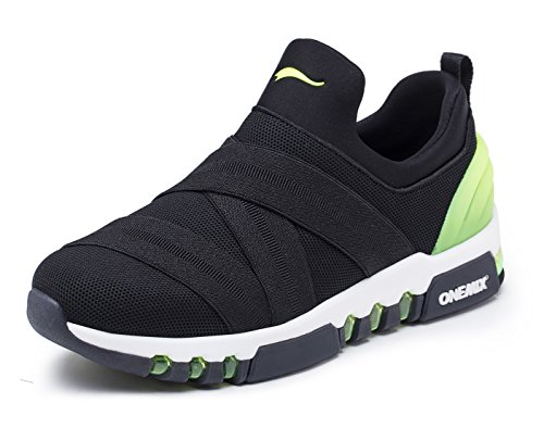 sale amazon ONEMIX Men's Running Shoes Breathable for Walking Sports with Outdoor Sneakers Black/Green largest supplier clearance online amazon outlet exclusive VDb26FOnXk