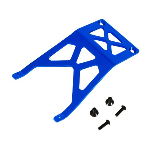 Atomik RC Traxxas Stampede 1:10 Aluminum Alloy Front Skid Plate Hop Up Upgrade, Blue Replaces Traxxas Part 3623 ()