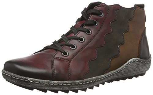 Remonte Damen R1474 Hohe Sneaker Mehrfarbig (Vino/Antik/Chestnut/havanna/wine / 35)