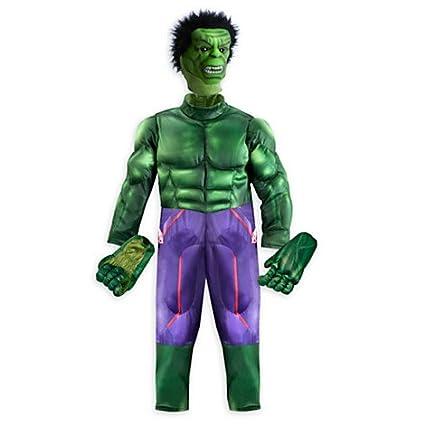 Hulk Costume Deluxe Para Los Niños Tamaño: 7-8 Años: Amazon ...