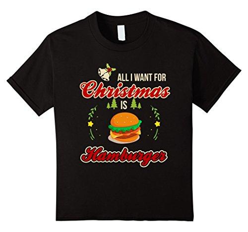 Kids Hamburger Lover Costume. Best Gift For Boys/Girls/Kids. 12 Black (Hamburger Gifts)
