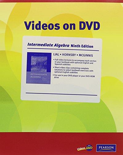 Videos on DVD for Intermediate Algebra