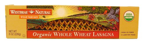 UPC 074873033182, 1 CASE, Westbrae Natural, Whole Wheat Lasagna, Organic, 8 oz, 12 per case
