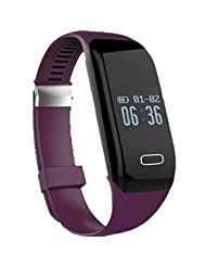 Lolipp Bluetooth 4.0 Smart Bracelet Pedometer Tracking Calorie Health Wristband Sleep Monitor for Android/iOS Samsung iPhone HTC LG Purple