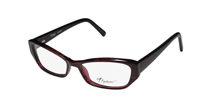 1329ffc6f5 Amazon.com  Thalia Amalia For Ladies Women Cat Eye Full-Rim Shape Flexible  Hinges Simple   Elegant Trendy Eyeglasses Eyewear (55-15-140