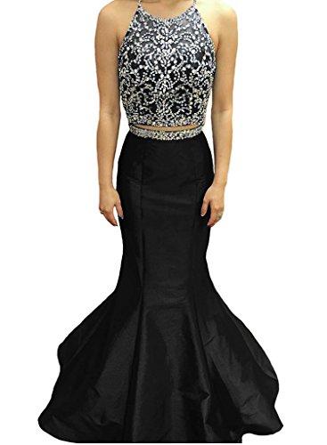 2 Piece Halter Evening Gown - 5