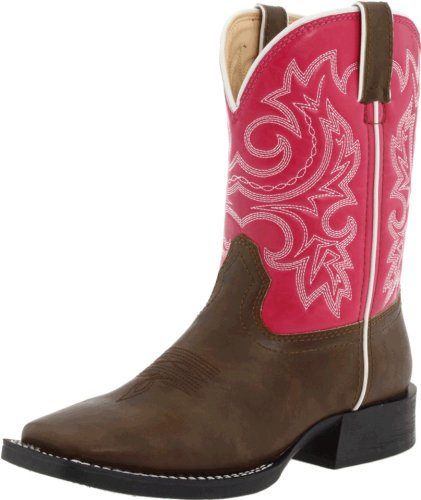 Durango Kids BT217 Lil' 8 Inch,Brown/Pink,1 M US - Durango Girls Cowboy Boots