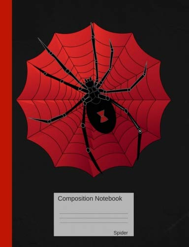 Composition Notebook Spider: Graph Paper Book to write in for school, take notes, for kids, students, teachers, homeschool, Black Widow Spider Cover ()