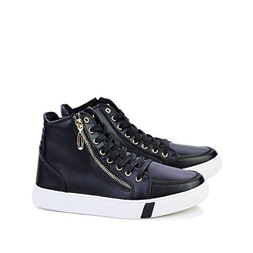 Up Heel Uomo Tempo da Sneaker Black Cricket Relax Scarpe Flat per Lace Il White Scarpe Libero Ginnastica da da wqOpPp