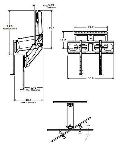 MantelMount MM340 Pull Down Fireplace TV Mount For 44''-80'' TVs Above Mantel by MantelMount (Image #6)