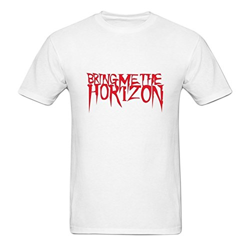 Men's Bring Me The Horizon Art Logo White T Shirt]()