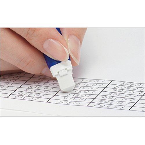 Pentel Stick Type Knock Eraser, Metal Green (XZE15-MD) by Pentel (Image #3)
