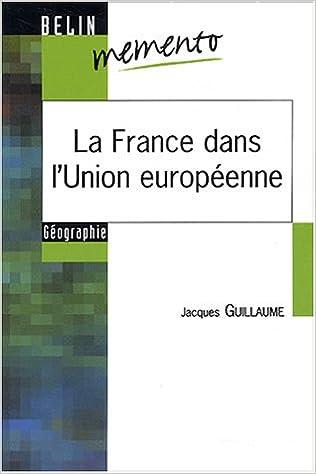 Livre La France dans l'Union européenne pdf, epub