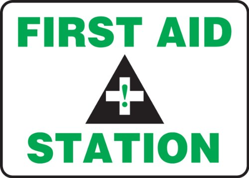 First Aid Station Sign (Accuform Signs MFSD960VP Plastic Safety Sign, Legend