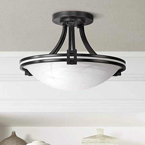 Deco Modern Ceiling Light Semi Flush Mount Fixture Oil Rubbed Bronze 16