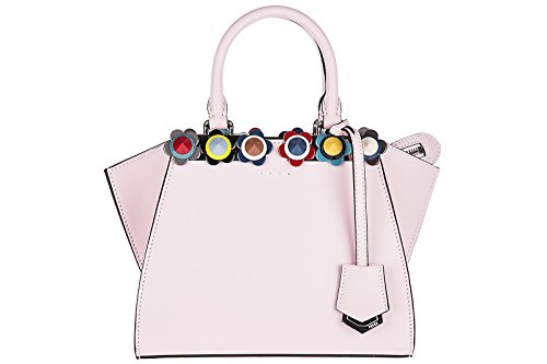 Fendi-womens-leather-handbag-shopping-bag-purse-3jours-mini-pink